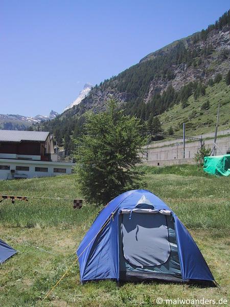 Zeltplatz Zermatt