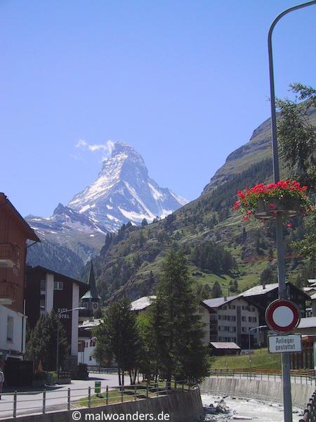 Zermatt unterm Matterhorn