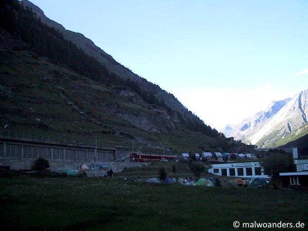 Zermatt liegt im Schatten