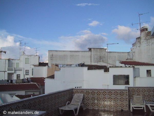Die Dachterrasse des Hotels