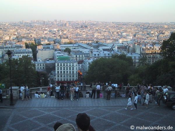 Blick vom Montmartre auf Paris