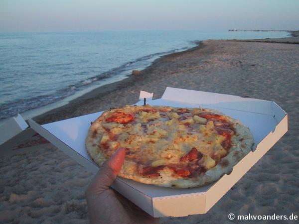 Abendessen bei schönster Abendstimmung und Meeresrauschen