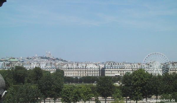 Blick aus dem Museum auf die Stadt
