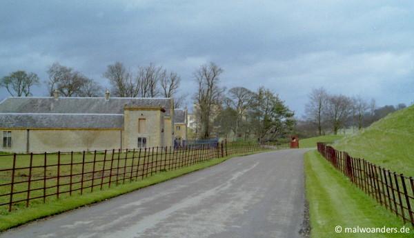 Bei Sherborne Castle auf die falsche Fahrbahnseite geraten