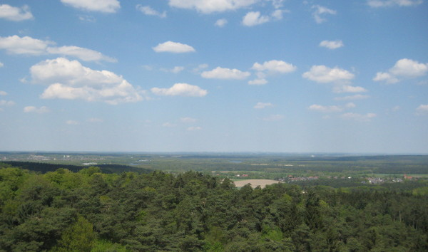 Blick nach Norden vom Feuerwachturm, Rennberg