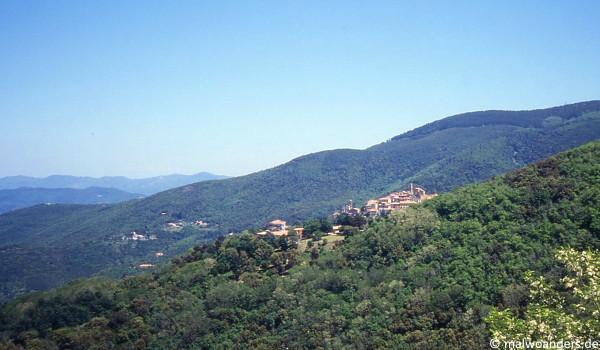Blick zurück auf Poggio