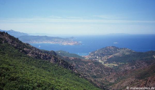 Blick auf Bagnaia und Porto ferraio
