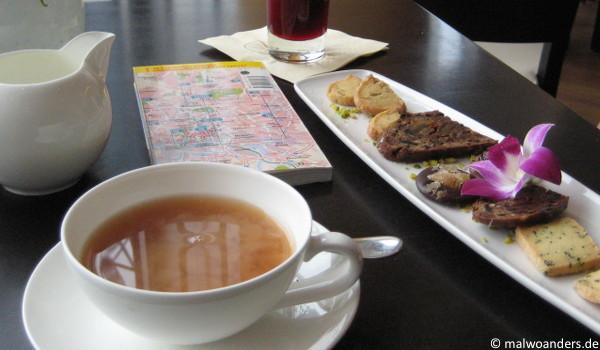 Teepause bei Messmer in der Hafencity