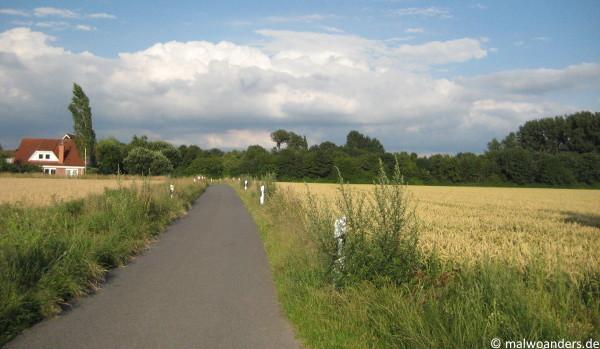 Rückweg durch Felder nach Wolbeck