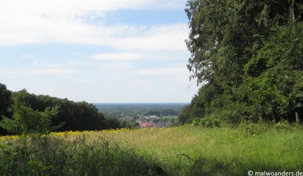 Blick aufs zurück aufs Münsterland