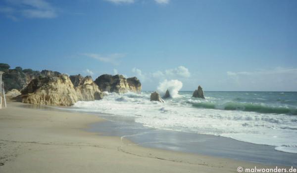 Strand zwischen Alvor und Praia del Rocha