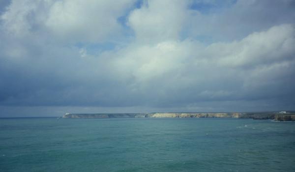 Blick auf das Cabo Sao Vincente vom Fortaleza de Sagres aus
