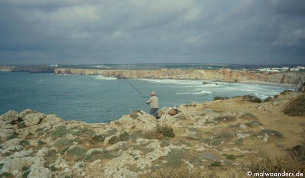 Angler am Fortaleza de Sagres