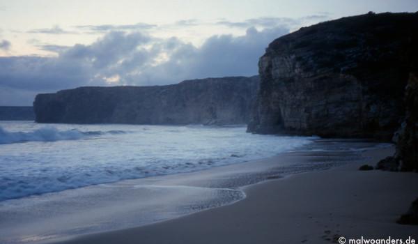 Strand auf dem Rückweg